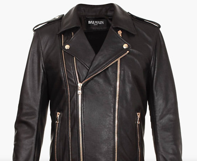 a90e0d951 BILL WALL LEATHER Custom Vintage Mens Leather Jacket size Large ...