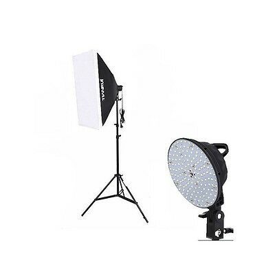 Kit iluminación LED Fotografía y Video - Softbox + Pie + Foco LED