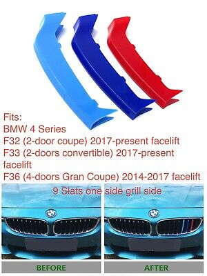 NEW M POWER LOGO KIDNEY GRILL 3D  3 COLOUR COVER ABS STRIPS BMW X2 F39 2017-2019