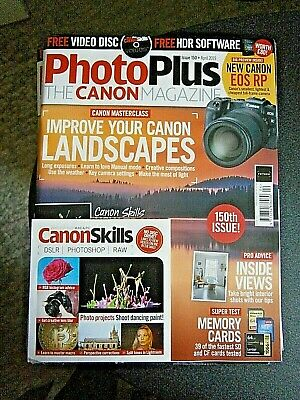 PhotoPlus  The Canon Magazine April Issue 150 (new) With Free Disc 2019