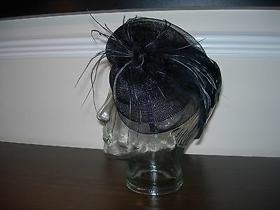 Wedding Black Loop & Feather Hair Band Fascinator Very Stylish Special Occasion