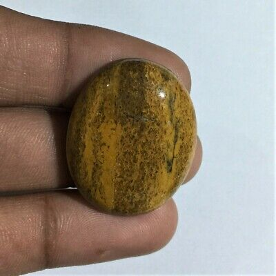 42.1 Cts Natural Camel Jasper Gemstone Cab Top Quality Oval Shape L#1