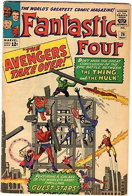 Fantastic Four #26 4.0 VG Avengers and Hulk appearance Silver Marvel
