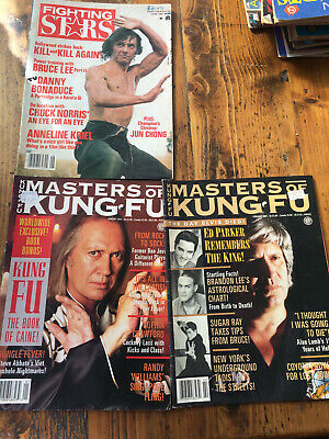 Magazines Martial Arts Vintage Fighting stars and Masters of Kung Fu 1991 1994