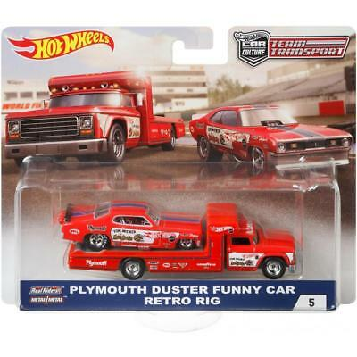 Plymouth Duster Funny Car Retro Rig Mongoose *RR* Hot Wheels Team Transport 1:64