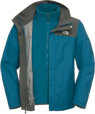 8829b1440 THE NORTH FACE Evolve II Triclimate Jacket, Prussian Blue/Asphalt Grey -  Mens S