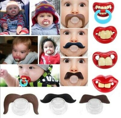 Funny Novelty Baby's Dummies Dummy Teeth Pacifiers Baby Babies Toddler UK Seller