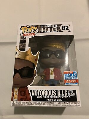 Funko POP! Notorious B.I.G With Crown Red Jacket - NYCC #82 + Protector