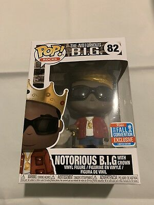 Funko POP! Notorious B.I.G With Crown Red Jacket - NYCC Exclusive#82 + Protector