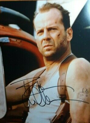 "Bruce Willis ""Die Hard"" Authentic Autograph 8 x 10 Photo Display w/COA"