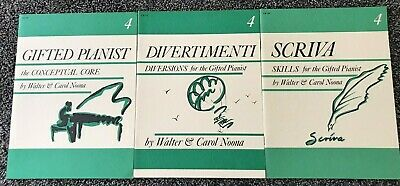 "Lot of 3 ""Gifted Pianist"" Books by Walter & Carol Noona, Level 4, Piano Study"