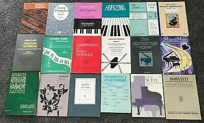 Lot of 18 Piano Books, Most for Study/Lessons/Learners, Technique, Exercises+++