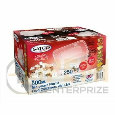 SATCO Food Container with Lid Microwave Oven Safe Ideal for Catering, Take Away