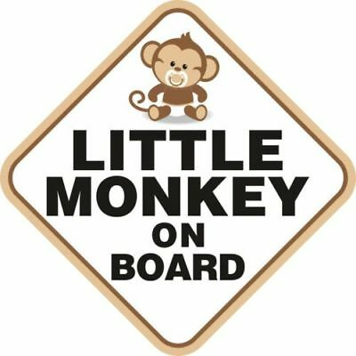Baby On Board Car Window Sticker Children Monkey Adhesive Decal Funny Fun