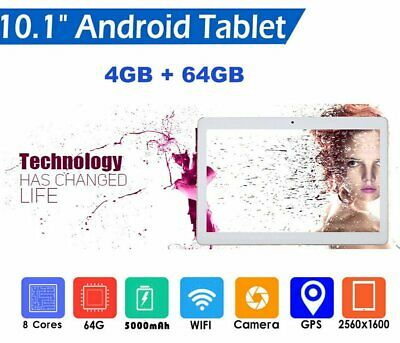 """10.1"""" Inch Tablet PC 4G+64G Octa-Core Dual SIM &Camera Android 7.0 Phone Wifi Q2"""