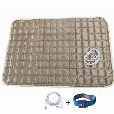 Earthing Grounded Silver Blankets & Throws Plush Pad Sheet Mats for Bed or Seat