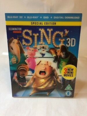 Sing 3D / Blu-Ray - Replacement Lenticular - Slipcover - Free U.k. Postage