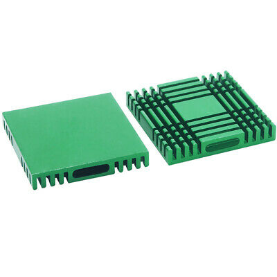 37*37*6mm Green Anodized Aluminium Heat Sink For Power Transistor/TO-126/TO-220