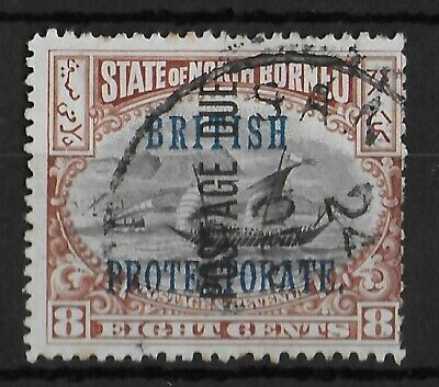 4c Optd 'british Protectorate,' Good Used 1901 Responsible Stamps Qv North Borneo Sg 130