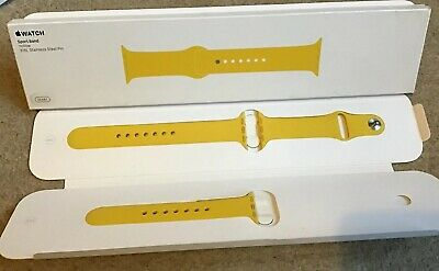 GENUINE APPLE WATCH STRAP SPORT BAND YELLOW 38mm / 40mm 2016 Rare Discontinued
