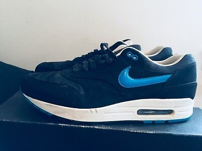 063ad2634b 2013 Mens Nike Air Max One PRM Jacquard Camp Black Blue Size 13 Used Rare DS