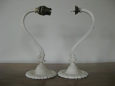 Vintage Pair Brass Wall Lights