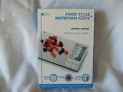 Perfect Portions Food Portion Control Scale + Nutritional Facts Booklets