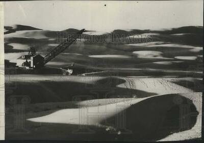 1937 Press Photo Construction at the All American Canal in Southern California