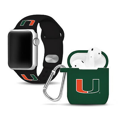 Miami Hurricanes Apple Compatible Combo Package - Black/Green