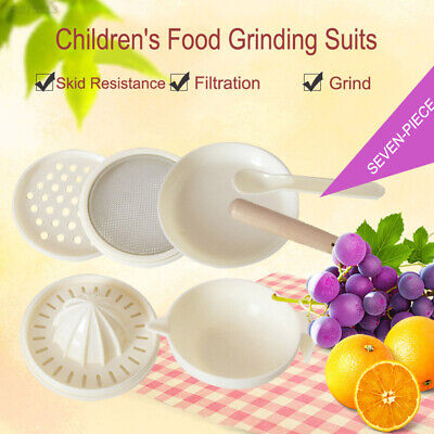 BE01 Safe Grinding Rod Vegetable Baby Food Masher Maker Juicer Fruit Plastic