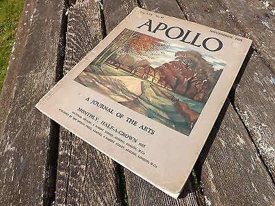 Apollo arts magazine, November 1928 edition.