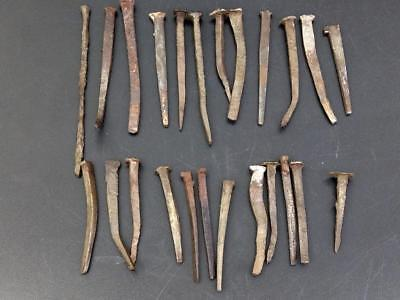 Joblot of Antique Wrought Nails From Different Periods