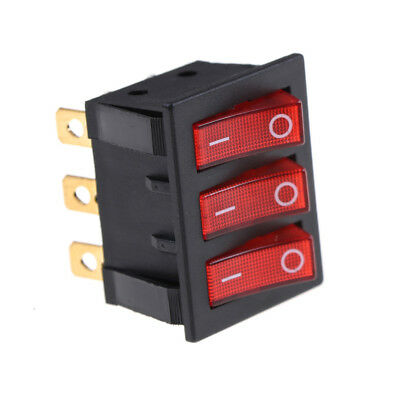 KCD3 34*40 Big Rocker Switches With Red Light Three-Way Switch 9 Pin 2 PositioHQ