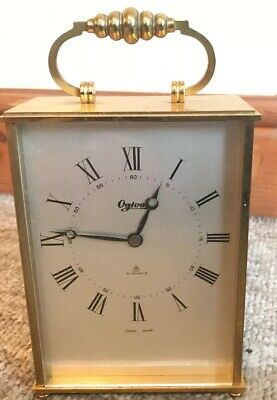 Vintage Ogival 15 Jewels Carriage Clock - Swiss Made - Working Well