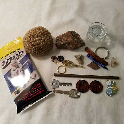 Junk Drawer Lot Vintage to Current Items Misc Stuff Crystal etc.