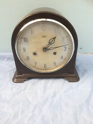 vintage Smiths Enfield Bakelite dome top mantle clock
