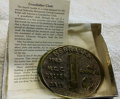 Vtg 1983 4th Annual MCC Relief Sale Nebraska (#227) Limited Ed Metal Belt Buckle