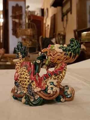 Dragón Porcelana China Policromía-Chinese Porcelain Dragon polychromy 155€