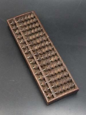 Japanese Wooden Abacus Soroban With Double Cone Beads Early 20th Century