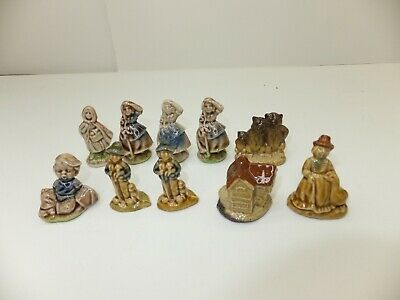Wade Red Rose Tea Figurines from England Lot of 10 Red Riding Hood 3 Bears