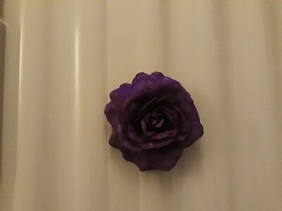 True Spirit Purple flower hair clip brooch accessory