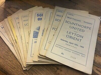 Scunthorpe United 1960s and 1970s HOME progs choose from list Updated 5/6/2019