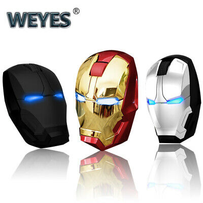 Marvel Comics Iron Man Wireless Game Mouse USB 2.4GHz 4D LED USB Mice PC Laptop