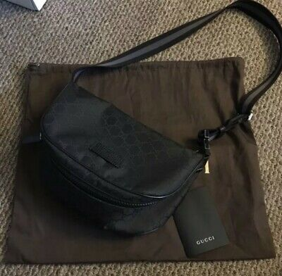 be6d9f621229 GUCCI Authentic Bumbag Belt Bag Cross body Waist Pouch Fanny Pack GG Imprime