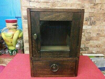 Antique Oak wall or freestanding Cabinets. Vgc.