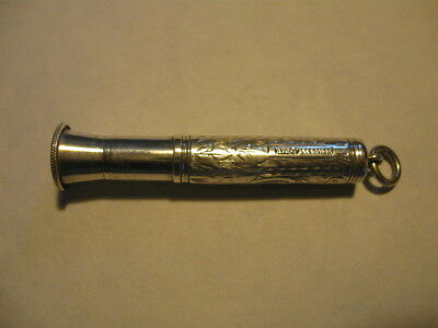 Victorian Sterling Silver Decorative Cigar Piercer.'h.c.f'.collectable Accessory