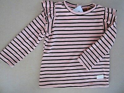 BNWT NEW 7 Seven For All Mankind pink top blouse stripe baby girls 18 Months