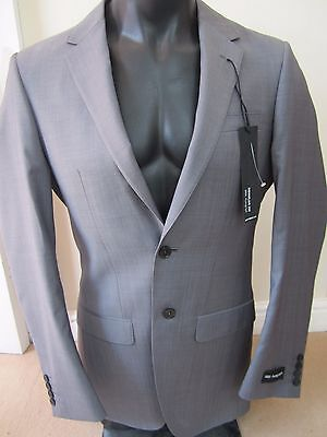 "Bnwt Marks & Spencer M & S Grey M&S Autograph Jacket 36"" Long Wool Reg Fit"