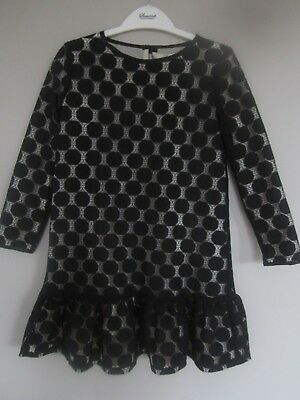 BNWOT Somerset By Alice Temperley Girls LACE BLACK Party Dress AGE 7, 8 YRS