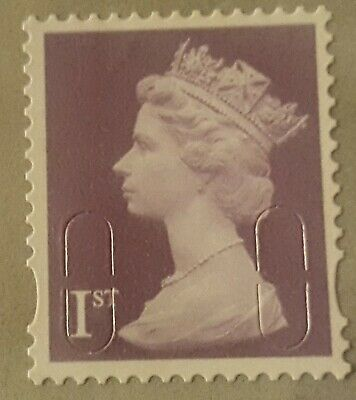 100 x 1ST CLASS LILAC STAMPS  UNFRANKED OFF PAPER WITH GUM (EASY PEEL) F/ V £70